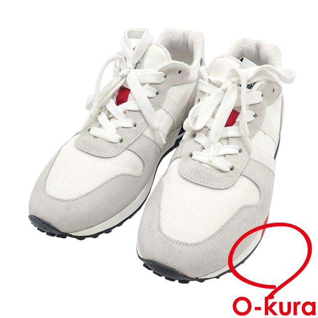 中古 ホーガン スニーカー メンズ ローカット レザー ホワイト 靴 推奨 マルチカラー グレー 定番キャンバス 8 古着 約26.0cm アパレル