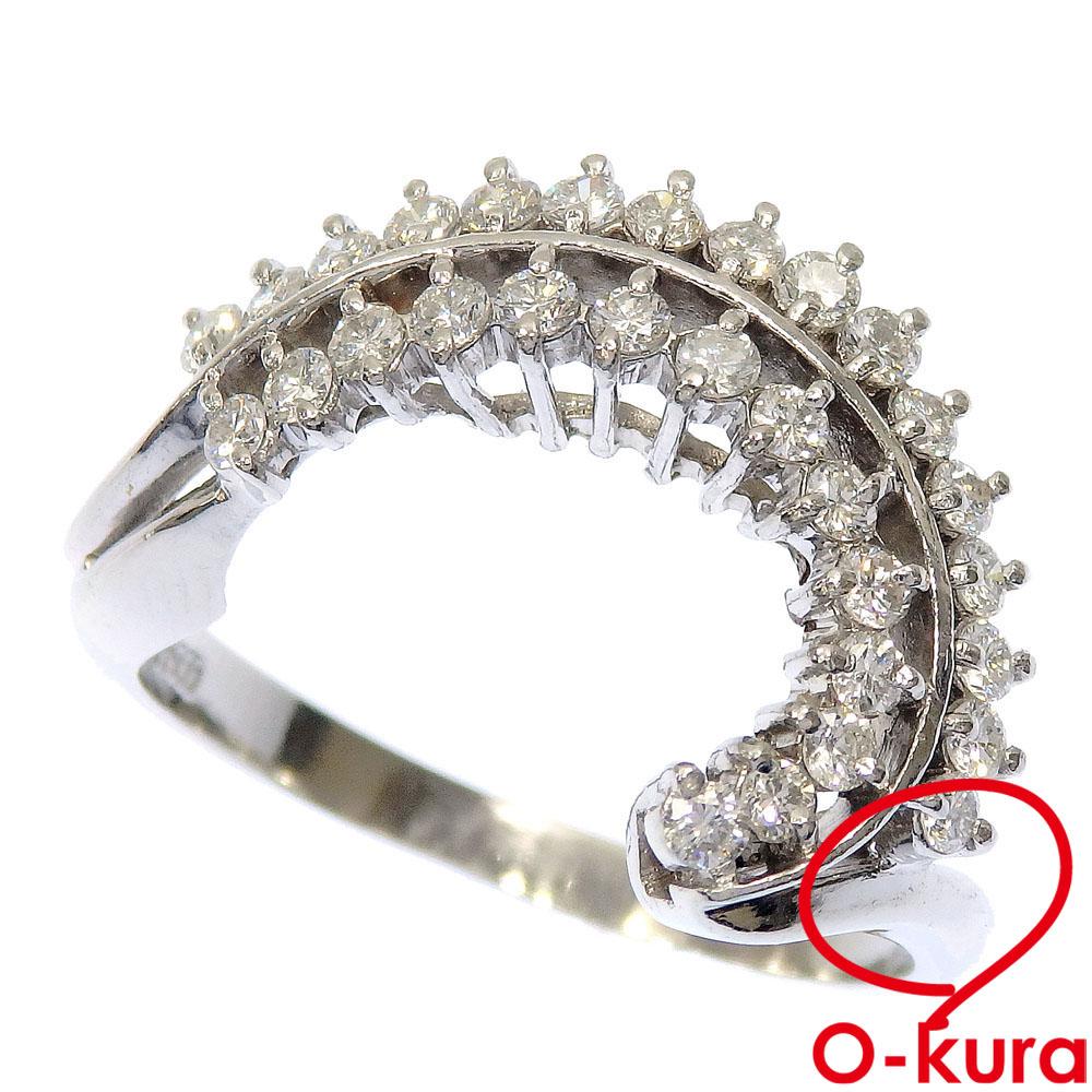 値下げ 中古 ダイヤモンド リング レディース Pt900 爆売り 0.62ct 5.8g プラチナ 指輪 16号