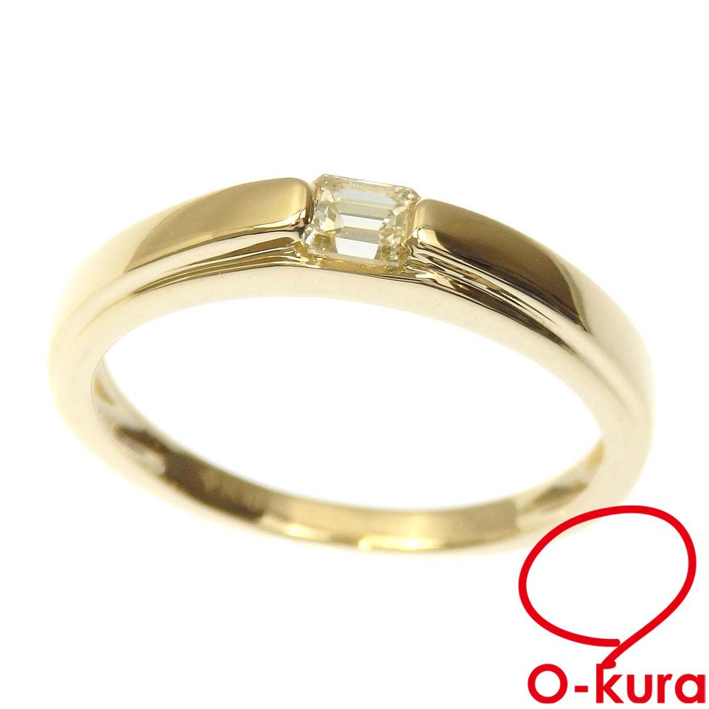 中古 ダイヤモンド リング レディース K18YG 13号 750 指輪 0.23ct 全国一律送料無料 商舗 イエローゴールド 2.7g 18金