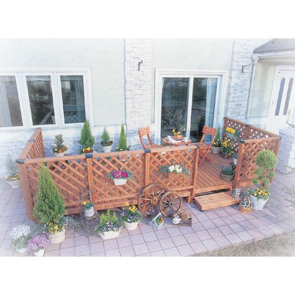 ガーデンシステムデッキ2.5坪セット[ウッドデッキ セット キット 庭 ガーデン エクステリア 木製 縁台]【時間指定不可】
