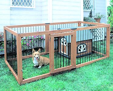 【条件達成でポイント+9倍】木製ペットサークル6枚セット KS-906S【ペット・犬小屋・ハウス・サークル】