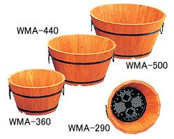 【20日限定★ポイント最大+9倍】【送料無料】お徳用6個セット ウッドメッシュプランター浅型 WMA-440