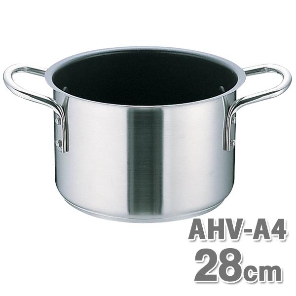 ムラノ テフロン AHVA404 半寸胴鍋 28cm【en】【TC】