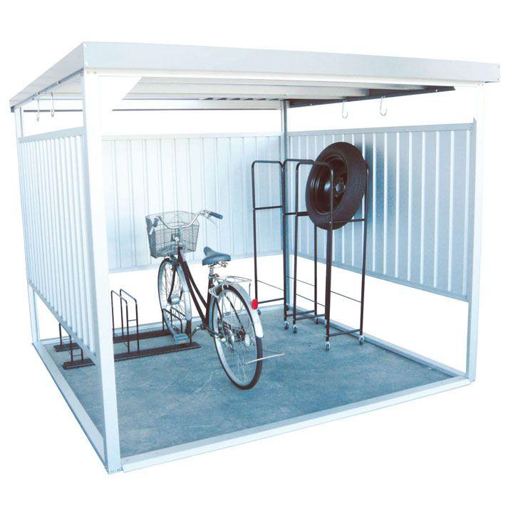 【条件達成でポイント+9倍】万能物置 シルバー DM-16送料無料 物置 小屋 自転車 屋外 多目的 ダイマツ 【TD】 【代引不可】