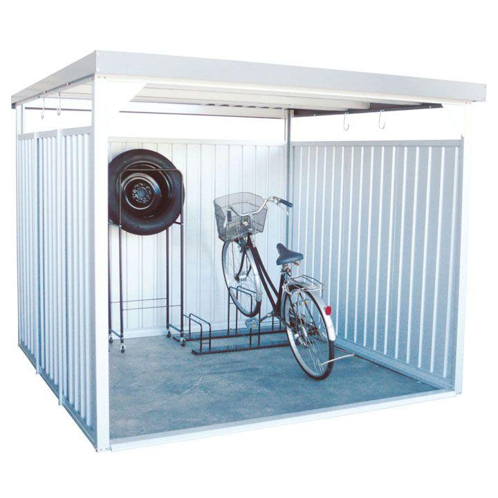 【20日限定★ポイント最大+9倍】万能物置 ロング シルバー DM-16L送料無料 物置 小屋 自転車 屋外 多目的 ダイマツ 【TD】 【代引不可】