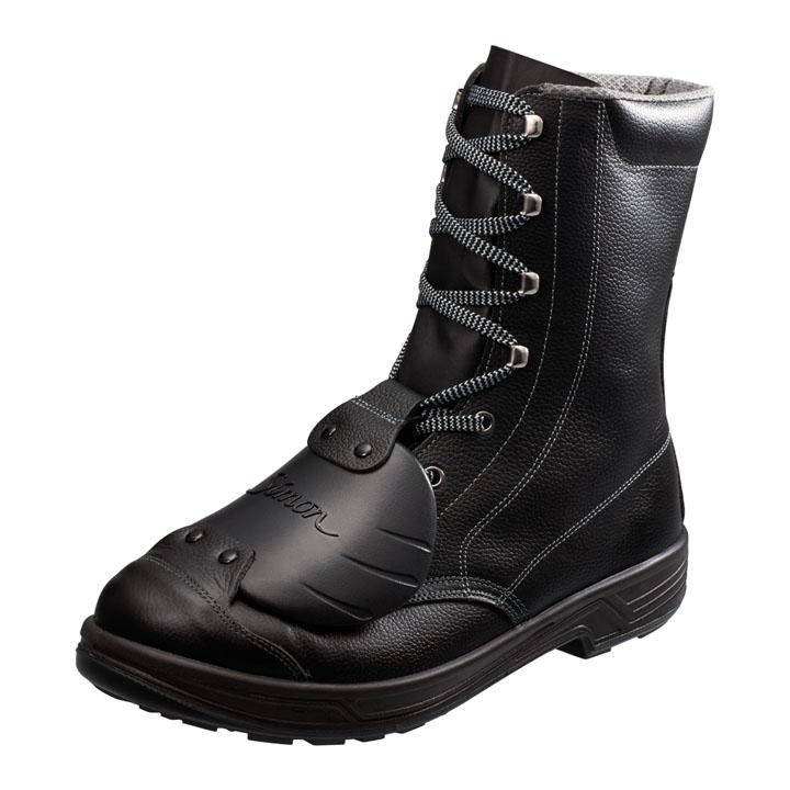 足甲プロテクター搭載 JIS規格安全長編上靴 黒 SS33樹脂甲プロD-6送料無料 安全靴 半長靴 作業靴 編み上げ 長靴 長編上靴 作業用品 DIY 作業着 シモン 23.5cm・24.0cm・24.5cm・25.0cm・25.5cm・26.0cm・26.5cm・27.0cm・27.5cm・28.0cm【D】
