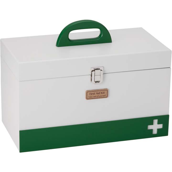 救急箱 L ホワイト 60058ファーストエイド 救急用品 ボックス 収納 薬入れ イシグロ 【D】