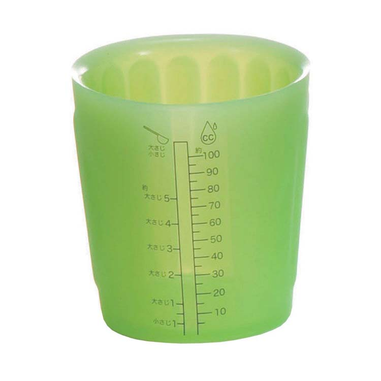 viv silicon measuring cup S green 59969 measuring cup heat resistance  tablespoon teaspoon CC kitchen utensil world create