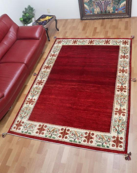 ギャッベ ギャベ 大きめリビングサイズ 250×172cm イラン直輸入 天然ウール100% 手織り ラグ ルリバフ (品番:HL-48799)