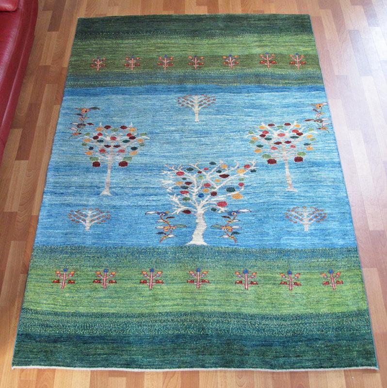 ギャッベ ギャベ リビングサイズ 213×145cm イラン直輸入 天然ウール100% 手織り ラグ (品番:HL-17066)