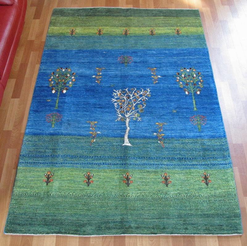 ギャッベ ギャベ 大きめリビングサイズ 224×147cm イラン直輸入 天然ウール100% 手織り ラグ (品番:HL-11944)