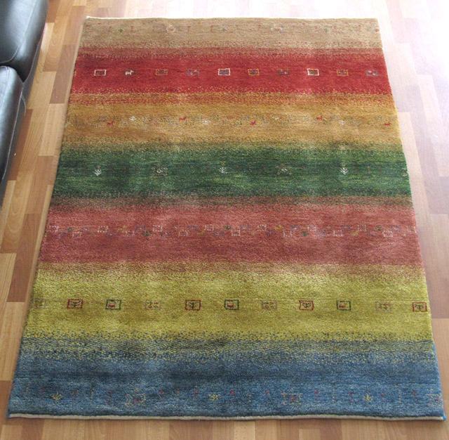 ギャッベ ギャベ/シェカルー、細かめのしなやかな織 201×150cm