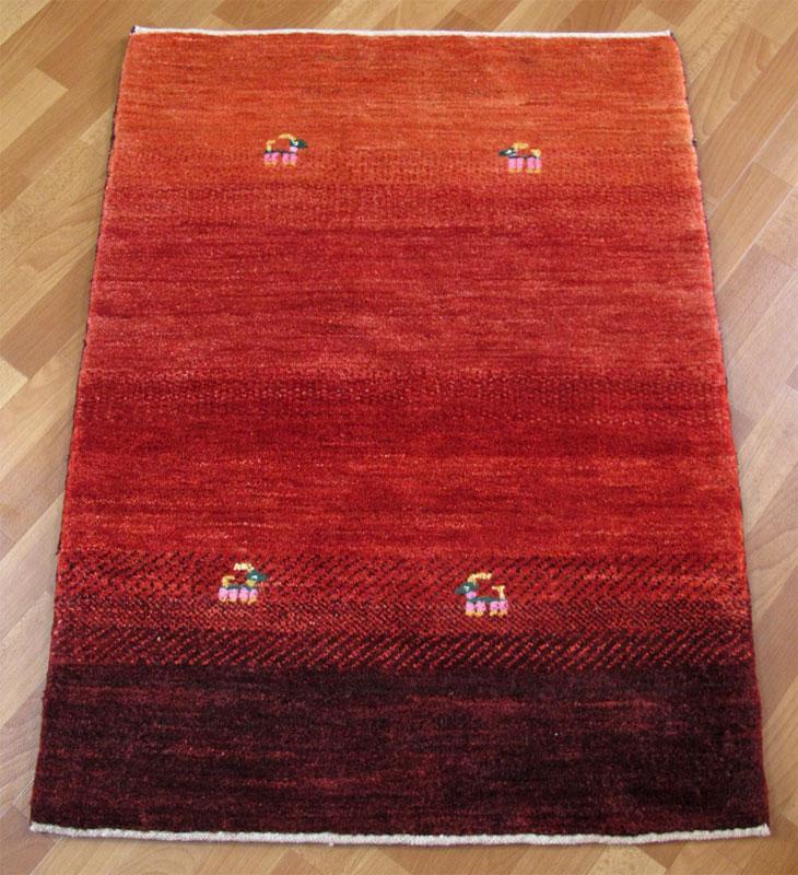 ギャッベ/シェカルー、細かめのしなやかな織 113×84cm(ZS-326)