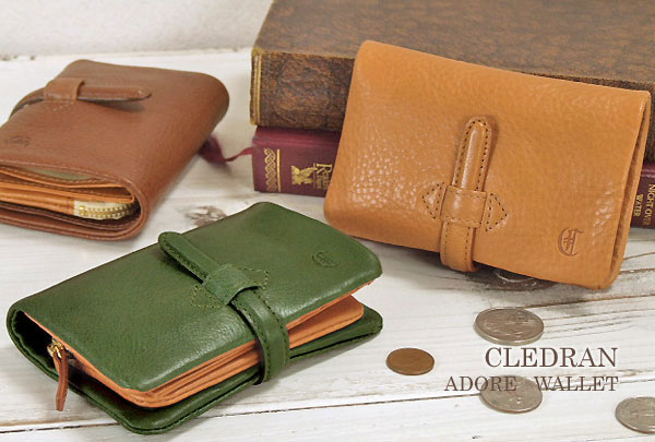 クレドラン【CLEDRAN】ふんわりレザーの二つ折りウォレット/財布【革】 財布 レディース 二つ折り 二つ折り財布 レディース 本革 母の日 o-sho
