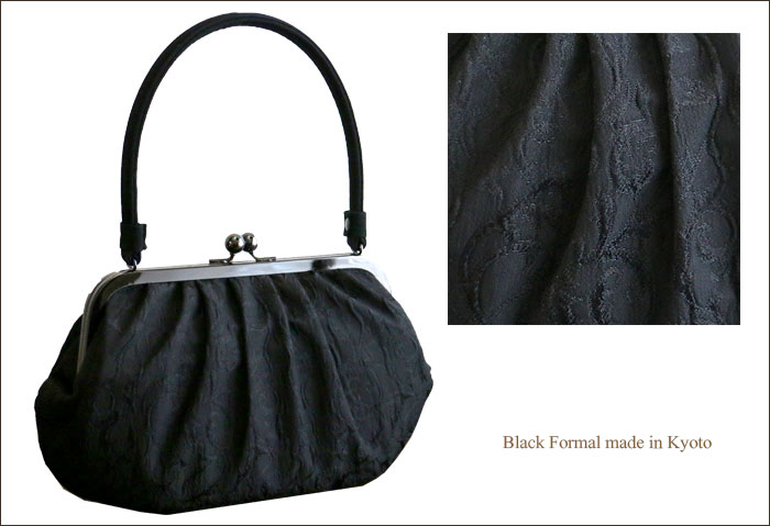 Formalwear bag black lace pattern coin purse bag condolatory Buddhist Buddhist handbag lightweight steel Japan