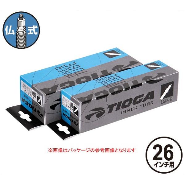 TIOGA(タイオガ) インナー チューブ 仏式 26インチ/Inner Tube (French Valve) [TIT113]【26inch/26インチ】【マウンテンバイク用/MTB用】【仏式バルブ口】【自転車用】【チューブ】