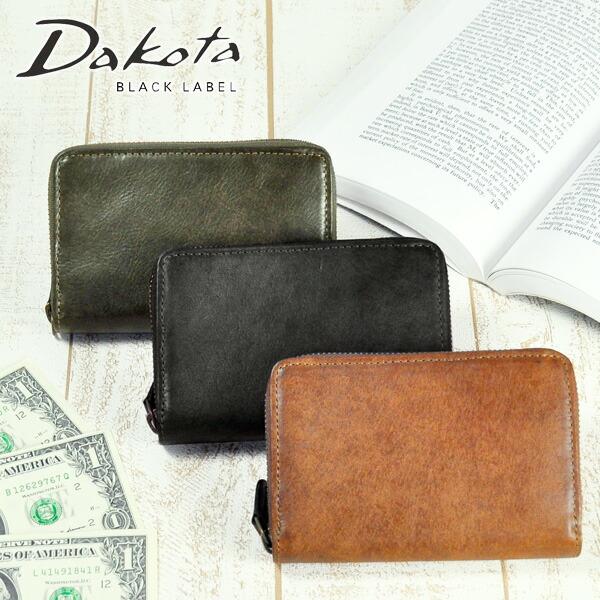 ダコタブラックレーベル Dakota black label ラウンドファスナー二つ折り財布 二つ折財布 ミニ財布 【Gaudi/ガウディ】 626802 メンズ レディース 【対応】【コンビニ受取対応商品】【送料無料】