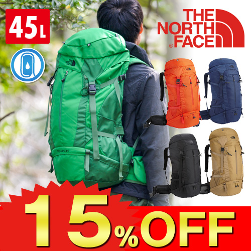 THE NORTH FACE! Rucksack [Tellus 45] nm61306l men gift ss201306 for the rucksack pack mountain climbing
