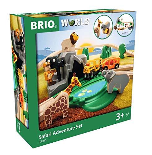 BRIO ブリオ WORLD 未使用 サファリアドベンチャーセット 全26ピース 対象年齢 木製 保障 レール おもちゃ 33960 電車 3歳~