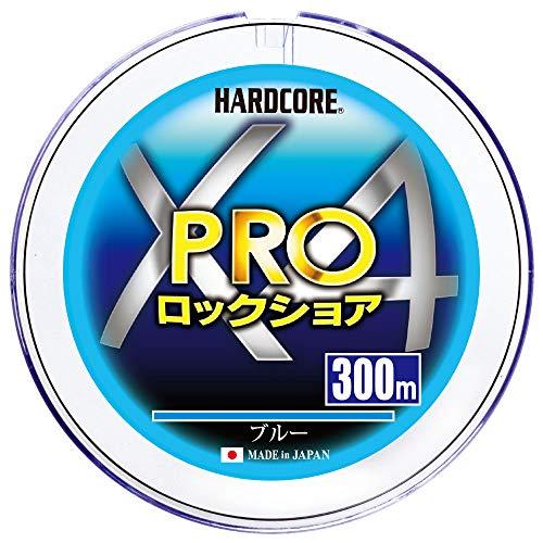 DUEL デュエル HARDCORE ハードコア 商店 PEライン 1.5号 2.0号 X4 PRO 発売モデル 4.0号 ロックショア ブルー 300m 3.0号