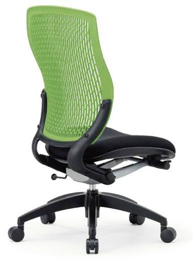 OAチェア 事務椅子 MA-1525(FG3)BK ハイバック肘なしタイプ