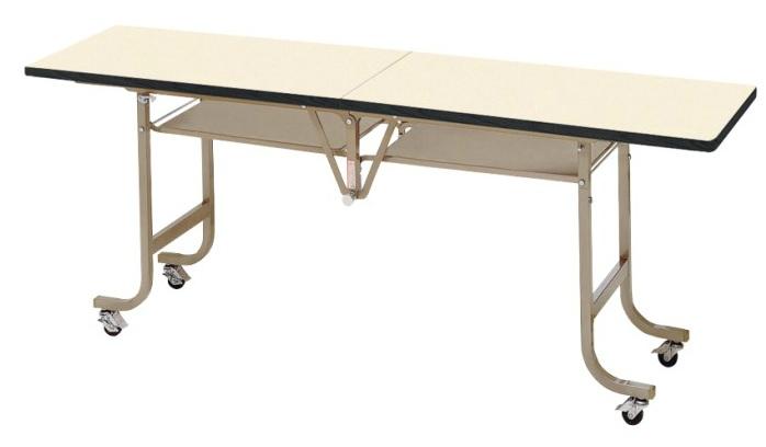 天板中折れ式テーブルフライトテーブル LK-1845S W1800×D450×H700ソフトエッジタイプ