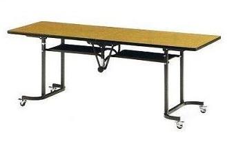 天板中折れ式テーブルフライトテーブル LK-1860S W1800×D600×H700ソフトエッジタイプ