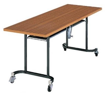 天板中折れ式テーブルフライトテーブル LK-1860T W1800×D600×H700共張りタイプ