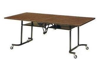 天板中折れ式テーブルフライトテーブル LK-1875T W1800×D750×H700共張りタイプ
