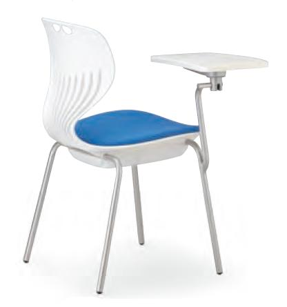 小テーブル付き椅子 メモ台付きチェアMC-404TW(FG3)