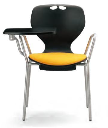 小テーブル付き椅子 メモ台付きチェアMC-414TB(FG3)
