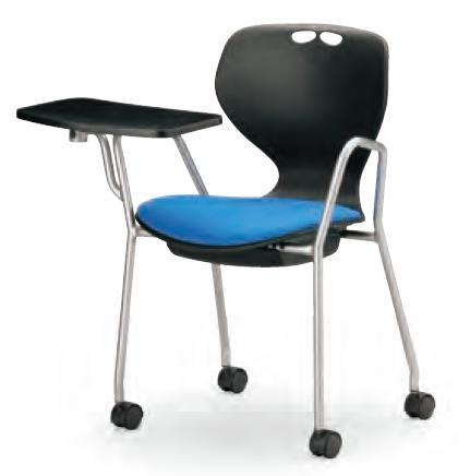 小テーブル付き椅子 メモ台付きチェアMC-434TB(FG3)