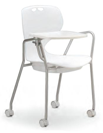 小テーブル付き椅子 メモ台付きチェアMC-434T