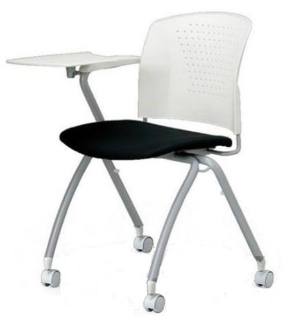 小テーブル付き椅子 メモ台付きチェアMC-324TW(FG3)