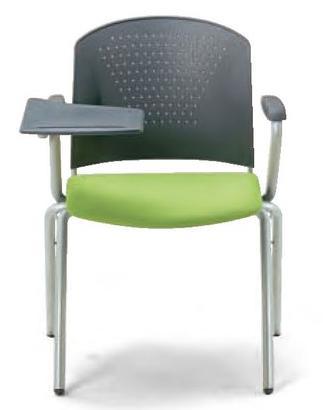 小テーブル付き椅子 メモ台付きチェア MC-314TG(FG3)