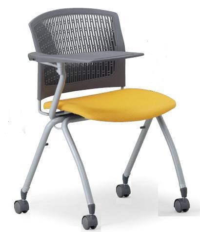 小テーブル付き椅子 メモ台付きチェアMC-382TG(FG3)