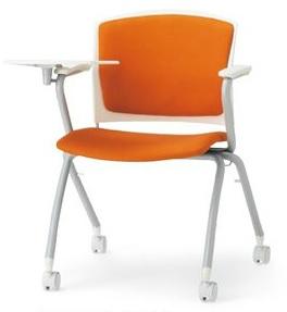 小テーブル付き椅子 メモ台付きチェアMC-393TW(FG3)