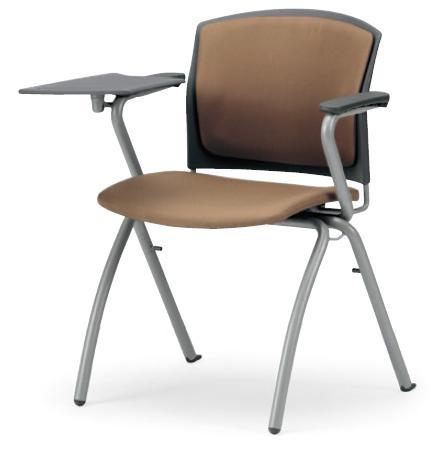 小テーブル付き椅子 メモ台付きチェアMC-391TG(FG3)