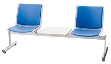 2人掛けロビーチェア テーブル付き LALC-33DWLビニールレザー張り