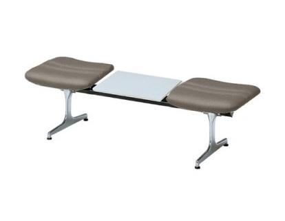 2人掛けロビーチェア 布張りテーブル付き RD-42CF(W1500)