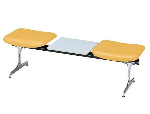 2人掛けロビーチェア ビニールレザー張りテーブル付き RD-42CV(W1500)