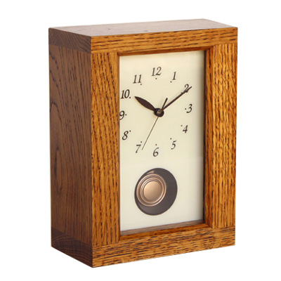REクロック NARA 漆【木製】【時計】【置時計】【置き時計】 【飛騨高山  オークヴィレッジ・Oak Village】