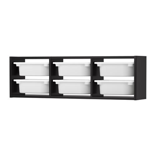 IKEA TROFAST イケア トロファスト ウォール収納, ブラック, ホワイト 292.287.38