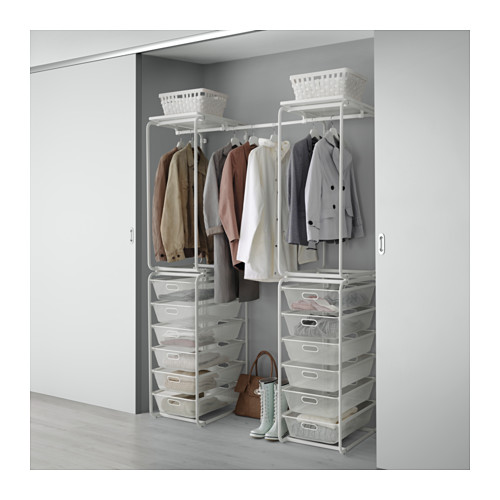 IKEA ALGOT イケア アルゴート フレーム/メッシュバスケット/ロッド, ホワイト 391.839.18