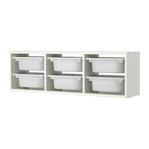 イケア 598.983.07 ホワイト TROFAST ホワイト, IKEA ウォール収納,
