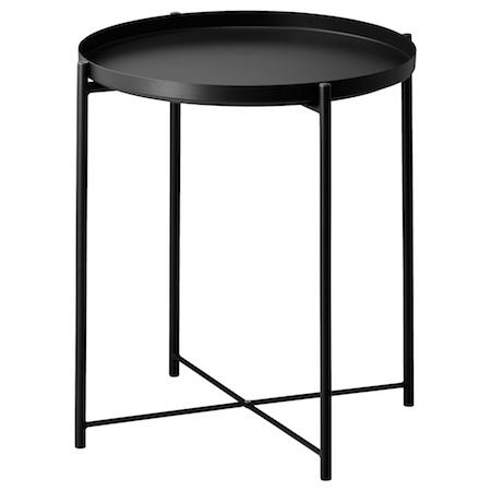 IKEA GLADOM イケア お買い得品 ブラック 004.119.97 トレイテーブル 送料込
