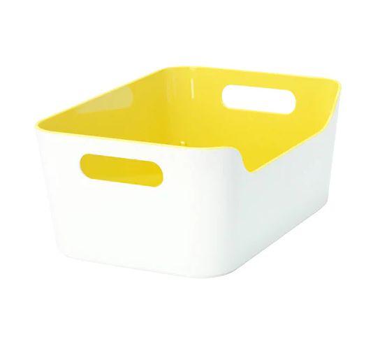 半額 市販 NEW IKEAのオシャレで便利な雑貨 IKEA VARIERA イケア ヴァリエラ イエロー 24x17cm 704.261.13 ボックス ハイグロス