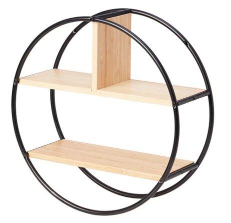 【NEW】IKEAイケアHEDEKAS ヘーデカスディスプレイシェルフ 丸形 竹004.717.07