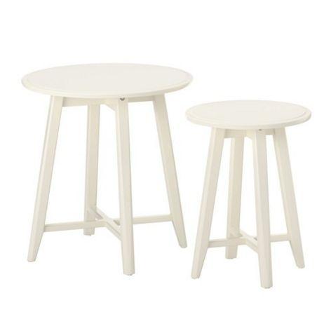 【NEW】IKEAイケアKRAGSTA クラーグスタネストテーブル2点セット ホワイト903.530.59