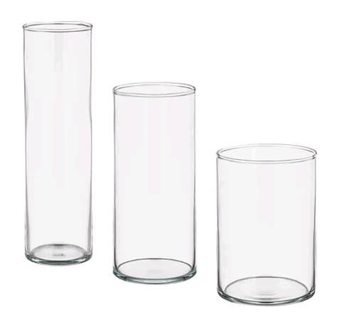 IKEA CYLINDER シリンデル花瓶3点セット, クリアガラス601.752.14【メール便不可】:日本オアシス株式会社